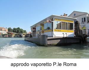 Approdo vaporetto p.le Roma